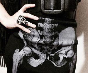 black, ring, and skull image