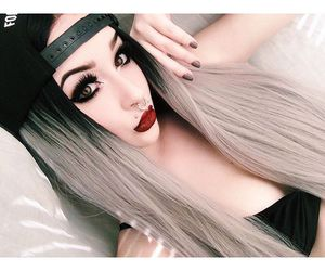 dyed hair and grey hair image