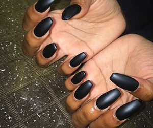 matte, nails, and blackmatte image