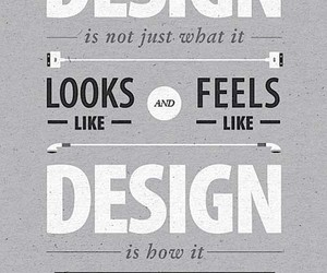 design, quote, and Steve Jobs image