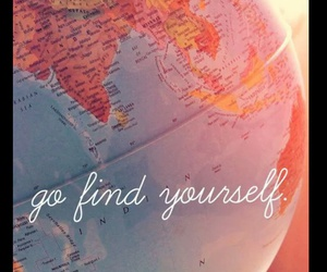 travel, world, and yourself image