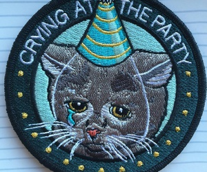 cat, party, and cry image