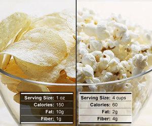 popcorn, calories, and food image