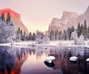 winter, mountains, and nature image