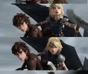 astrid, ship, and toothless image