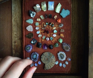 book, magic, and minerals image