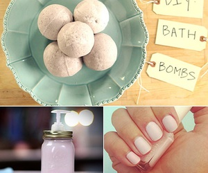 bath bombs, diy, and soap dispenser. nails image