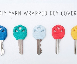 diy, key, and yarn image