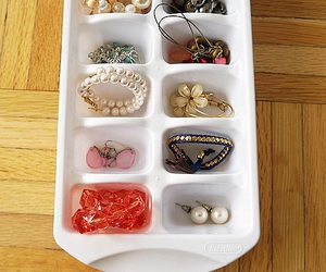 diy, jewelry holder, and ice cube tray image