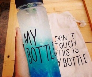 blue, my bottle, and bottle image