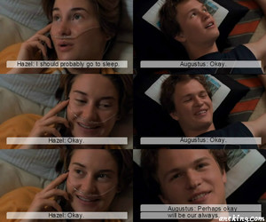 augustus, Shailene Woodley, and the fault in our stars image
