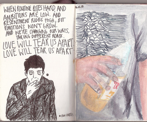 joy division, ian curtis, and art image
