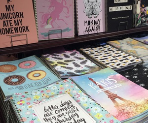 donuts, notebooks, and tumblr image
