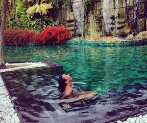 one day, relaxing, and swimming image