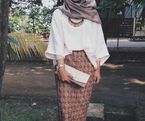 hijab, skirt, and white image