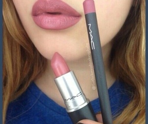 mac, lips, and lipstick image