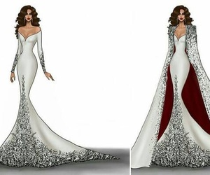 fashion, wedding dresses, and design image