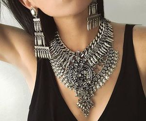 fashion, black, and earrings image