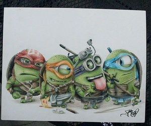 minions, drawing, and turtles image