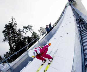 sport, winter, and ski jumping image
