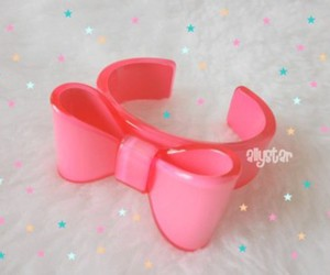 bow, pink, and pink bracelet image