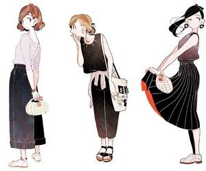 anime, fashion, and girl image