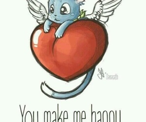 happy, fairy tail, and heart image