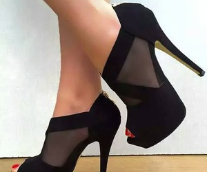 shoes, heels, and black image