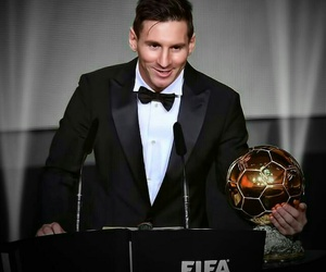 ballon d'or, fc barcelona, and lionel messi image