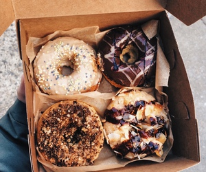 2016, chocolate, and donuts image