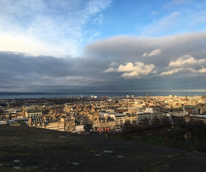 edinburgh, view, and castel image