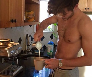 abs, coffee, and guys image