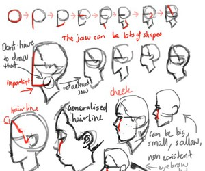 how to draw and heads in profile image