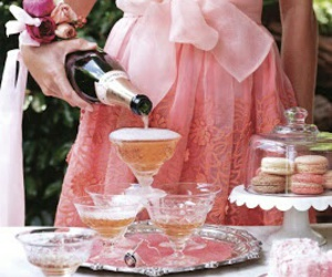 champagne, pink, and dress image