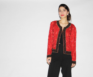 luxury, red, and sequin image