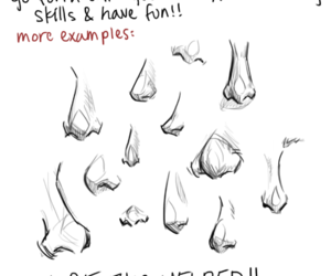 nose, shapes, and how to draw image
