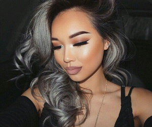 girl, lashes, and goals image