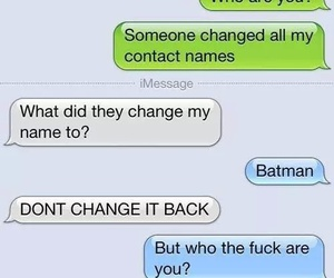 batman, funny, and message image