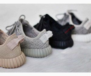 sneakers, yeezy, and adidas image