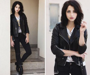 girl, emily rudd, and black image