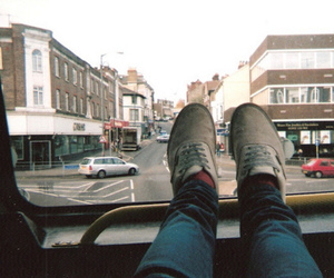 shoes, vintage, and bus image