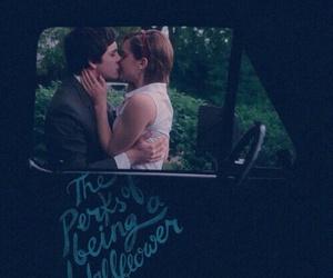 emma watson, kiss, and logan lerman image