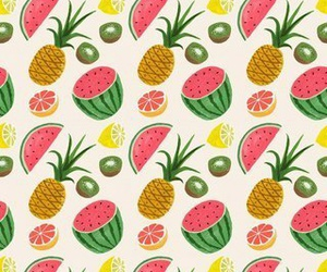 fruit, watermelon, and pineapple image