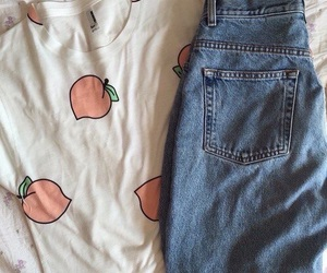 peach, clothes, and pale image