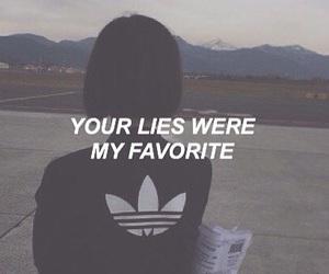 girl, adidas, and lies image