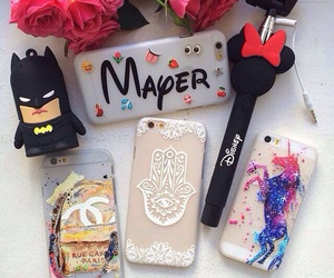 colors, flowers, and phone cases image