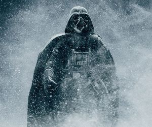 darth vader, star wars, and snow image