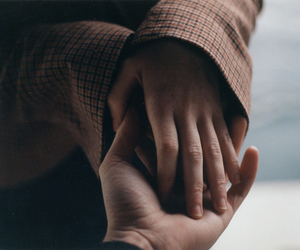 couple, hands, and pale image