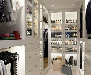 clothes, closet, and shoes image