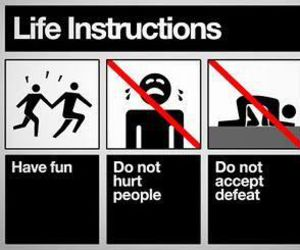 life, instructions, and happy image